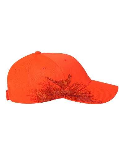 DRI DUCK Wildlife Series Caps, Blaze Orange - Pheasant (3261), ADJ ()