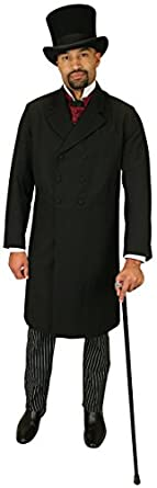 1900s Edwardian Men's Suits and Coats Mens Double Breasted Frock Coat $169.95 AT vintagedancer.com