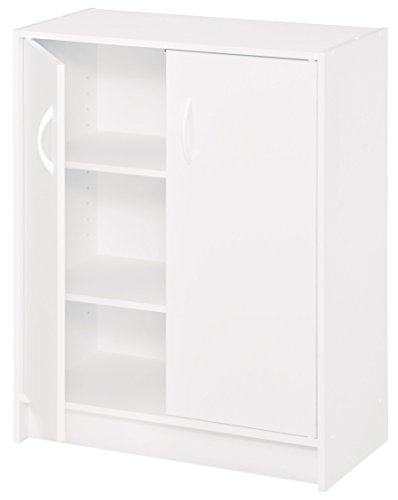 2 Door Wood Frame (ClosetMaid 8982 Stackable 2-Door Organizer, White)