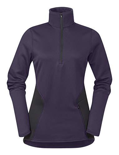 Zip Neck Fleece Shirt - Kerrits Protek Fleece Zip Neck MD Eggplant