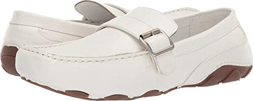 Unlisted by Kenneth Cole Men's String Along Driving Style Loafer, White, 10.5 M US