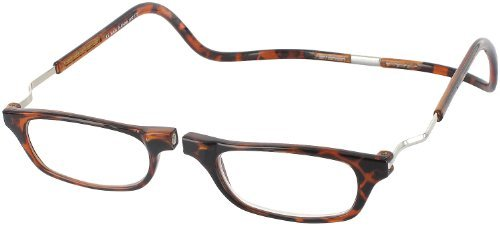 CliC Reader XXL Single Vision Half Frame Designer Reading Glasses, Dark Tortoise, ()
