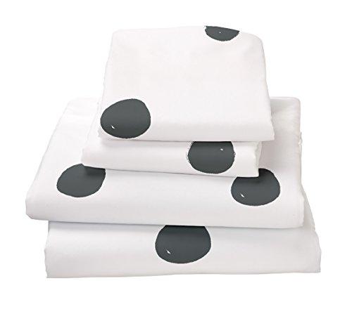 Twin Sheet Set Polka Dot Gray - Double Brushed Ultra Microfiber Luxury Bedding Set