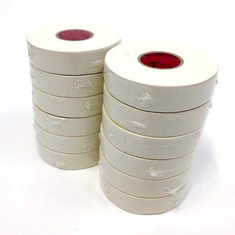 - 12 Pack - Top Flight Hockey White Cloth Hockey Tape 1