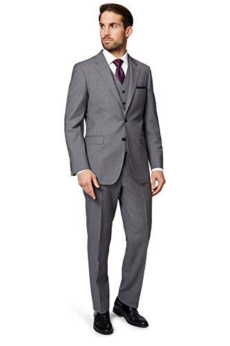 Ermenegildo Zegna Cloth Men's Regular Fit Light Grey Suit Jacket - Men For Zegna