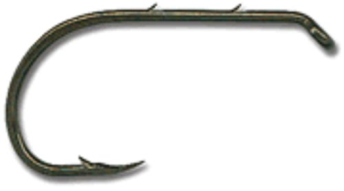 Mustad Classic Reversed Point Forged Turned Down Small Ball Eye Beak Baitholder Hook with Special Long Shank and 2 Baitholder Barbs (Pack of 50), Bronze, 2/0