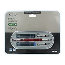 PARKER VECTOR CALLIGRAPHY FOUNTAIN PEN (RED BODY)