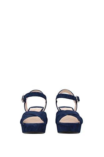 Sandalen EU Blau Prada Wildleder Damen 1XP890 8Sqgvdw