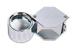 Loupe, 10x Hex Triplet, Silver, 21.5 Millimeter
