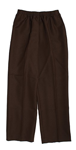 Alfred Dunner Petites' Pull-on Flat-front Pants Brown 10P from Alfred Dunner