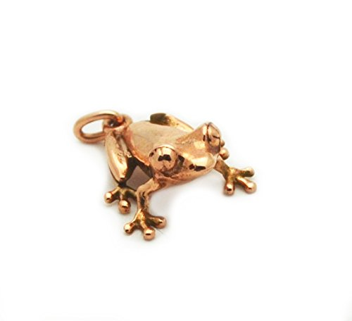 14k Rose Gold Animal Toad Frog Pendant Charm by Eklektic Jewelry Studio