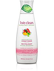 Live Clean Super Fruit Water Quenching Curls Conditioner, 12 Fl oz (Pack of 4)