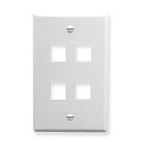 - Keystone Outlet plate Cover Low Profile Keystone Jack Faceplate 1-Port 2-Port 3-Port 4-Port 6-Port Cat5e / Cat6 / cat7 Keystone Jack Wall Plate (4Port x1, White)