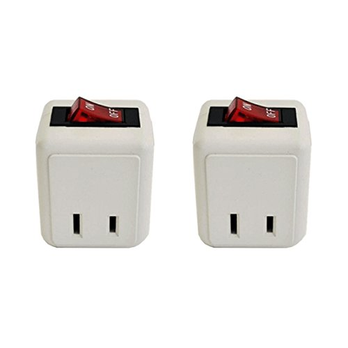 (2 Pack) Uninex Wall Tap Outlet W/Turn ON/OFF Switch Power Adapter 2 prong Plug Without Unplugging Cords ETL