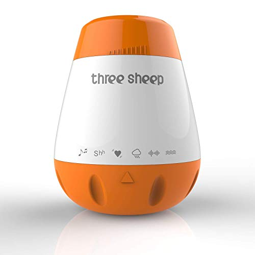 Baby Soother Sound Machine, Three Sheep Soothing White Noise Machine Portable Sleep Therapy to Help The Baby Sleep and Relax. (Sleep Sheep Sound Machine)