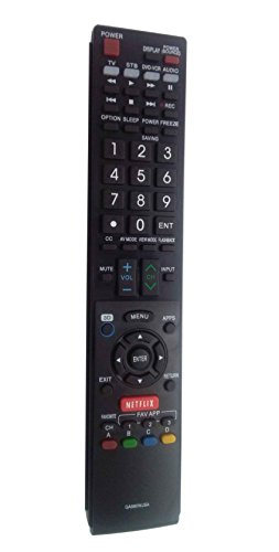 New VINABTY GA890WJSA Replaced Remote Controller fit for Sharp TVs LC52C6400U LC52LE640U LC60C6400U LC60LE640U LC70C6400U LC80LE633U LC60C6400U LC60LE640UA LC52LE640 LC60C6500U GA890WJSA (Sharp Lcd Controller)