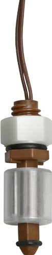 Madison M3326 Plastic Normally Closed Subminiature Liquid Level Float Switch with Polypropylene Stem, 15 VA SPST, 3/8