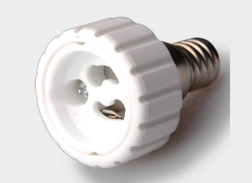 Douille /à vis Edison vers douille GU10 classe /énerg/étique A+ Compatibles LED Lot de 2 adaptateurs de culot dampoule E14 vers GU10 certifi/és CE Luminosa