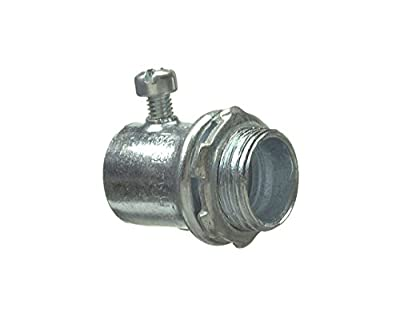 "Halex 62705B Set Screw Connectors Electrical Metallic Tubing (EMT) Fitting Steel (50 Piece), 1/2"""