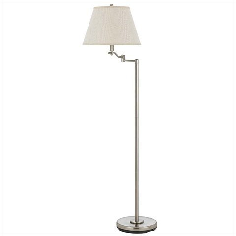 Cal Lighting BO-2350FL-BS Dana Swing Arm Floor Lamp, 150-watt, Brushed Steel by Cal