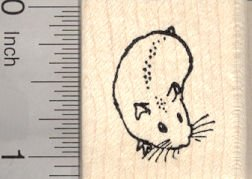 Small Hamster Rubber Stamp
