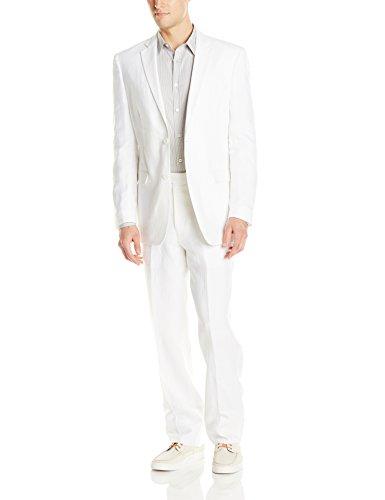 U.S. Polo Assn. Mens Linen Suit, RAD6001S White, 44 Regular