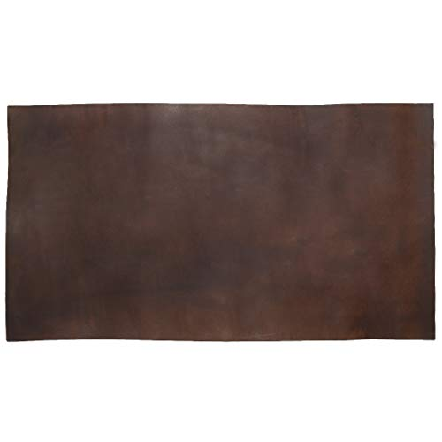 (Thick Leather Square (10 x 18 in.) for Crafts/Tooling/Hobby Workshop, Heavy Weight (3.5mm) by Hide & Drink :: Bourbon Brown)