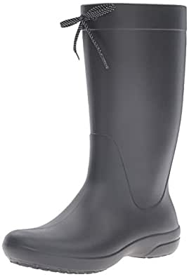 Crocs Women's Freesail Rain Boot, Black, W4