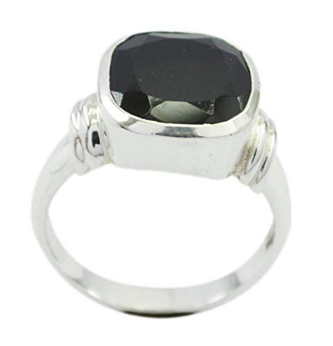 Supply 925 Sterling Silver Bonnie Genuine Black Ring, Black Onyx Black Gems Silver Ring from RIYO