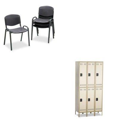 KITSAF4185BLSAF5526TN - Value Kit - Safco Double Tier (SAF5526TN) and Safco Contour Stacking Chairs (SAF4185BL)