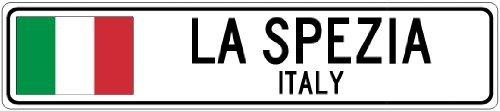 Custom Street SignLA SPEZIA, ITALY - Italy Flag City Sign - 3x18 Inches Aluminum Metal Sign