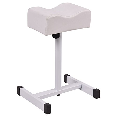 Giantex Pedicure Manicure Footrest W/Adjustable Seat Height Technician Nail Equipment Salon Spa (White)