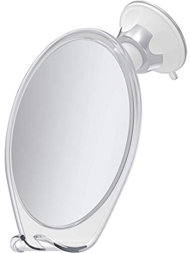 HoneyBull Shower Mirror for Shaving Fogless with Suction, Razor Holder & -