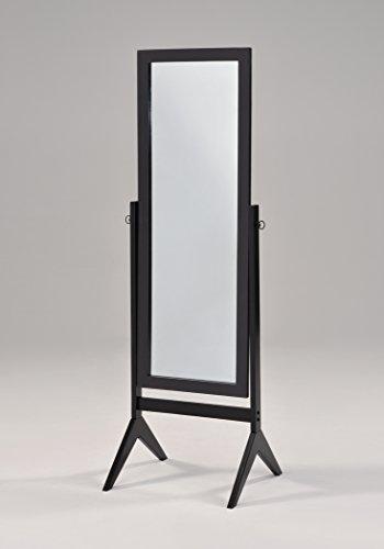 black finish wooden cheval bedroom free standing floor mirror home kitchen. Black Bedroom Furniture Sets. Home Design Ideas