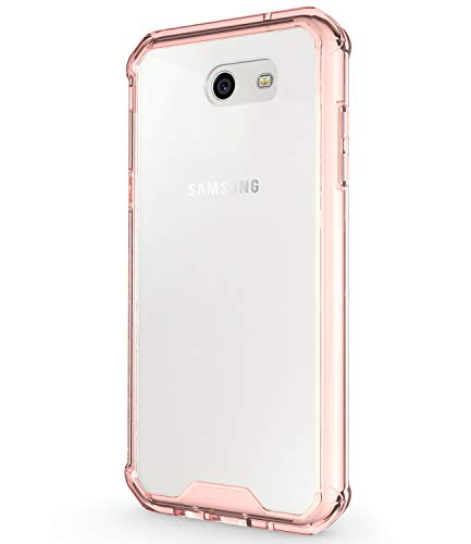 Galaxy J3 Emerge Case, JDBRUIAN Shock-Absorption Cover Bumper Anti-Scratch Clear Back for Samsung Galaxy J3 Emerge/J3 Prime/J3 2017/J3 Mission/J3 Eclipse/J3 Luna Pro/Sol 2/Amp Prime 2 - Rose Gold