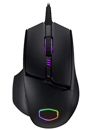 Cooler Master MM830 Gaming Mouse with 24, 000 DPI Sensor, Hidden D-Pad Buttons, 4-Zone RGB, and Precision - Wheel Optical 96