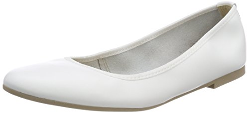 Weiß Geschlossene Damen White Ballerinas Leather Tamaris 22128 0I6ZnqvxC