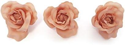 NUEVO * * X3 grande Beige Pastel rosa de tela en horquilla pelo ...
