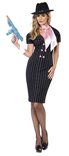 Smiffys Gangsters Moll Costume, Black/Pink, Large ()