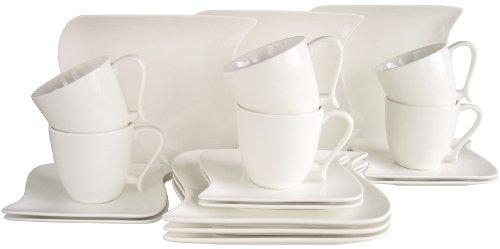 Creatable 18512 Serie, Kaffeeservice, 18-teilig, ocean weiß