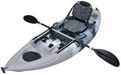 BKC FK285 9.1' Sit On Top Single Fishing Kayak W/Upright Back Support Aluminum Frame Seat