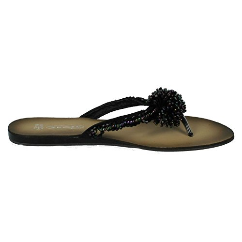 Ladies Style Black Sandals On Spot F0474 wqC6wrfB