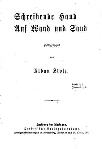 Schreibende Hand auf Wand und Sand (German Edition)