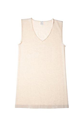 Hocosa Organic Wool-Silk Underwear Shirt for Women, White, size 36/US 6 (Cami Underwear)