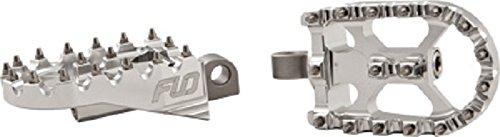 Flo Motorsports Moto Style Footpeg Set - Silver SPEG 801