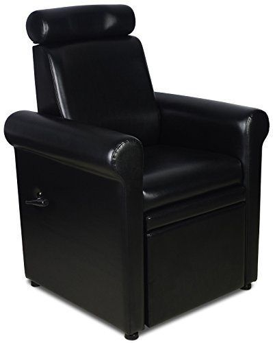 Icarus ''Crest'' Black Pedicure Foot Spa Station Chair by Icarus