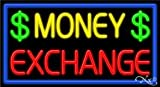 Money Exchange Neon Sign - 20'' x 37''