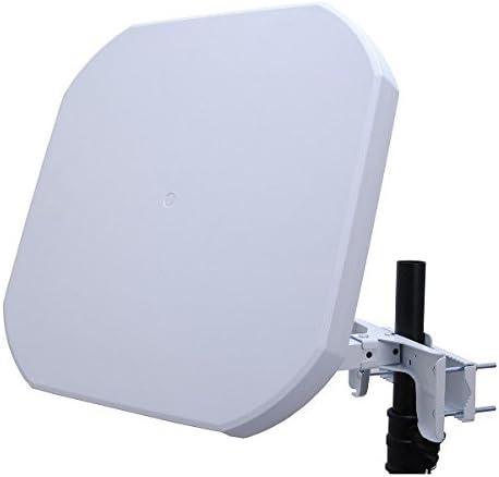 Antena plana Micro Sat Quad + 65 Db amplificación para 4 ...
