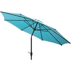 Mainstays 9 39 Market Umbrella Turquoise