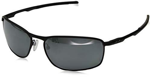 Oakley Men's OO4107 Conductor 8 Rectangular Metal Sunglasses, Matte Black/Prizm Black Polarized, 60 mm (Oakley Unobtainium)